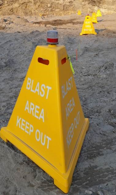 Plastic Safety Pyramid Sign