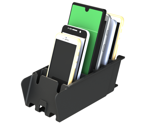 Mobile Phone Cubby Rack