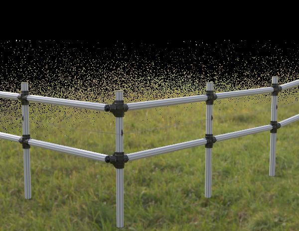 PVC plastic Fencing Post and Rail