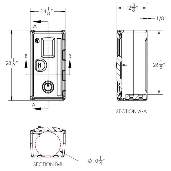 Fire Cabinet - CFE450-USA-Dimensions